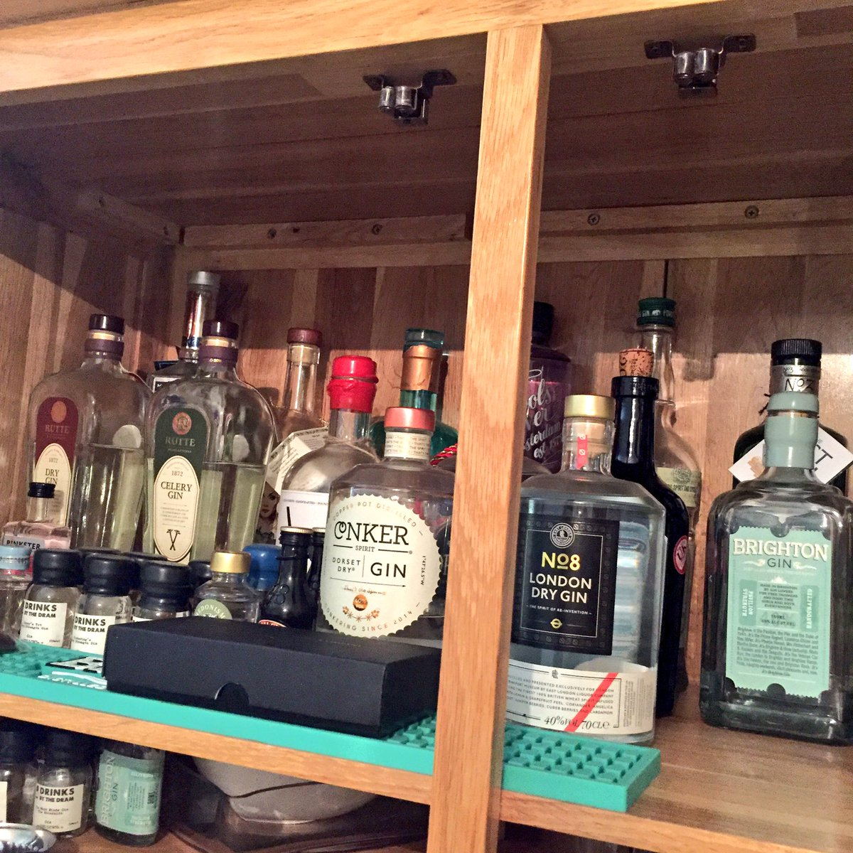 Like I said Gin is my thing ... this is my collection (rows of 3) ... there just so much choice! #gin https://t.co/EJBMogqNoE