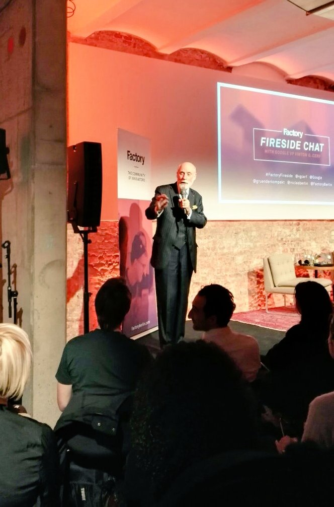 Thank you @vgcerf for the dose of inspiration tonight @FactoryBerlin...