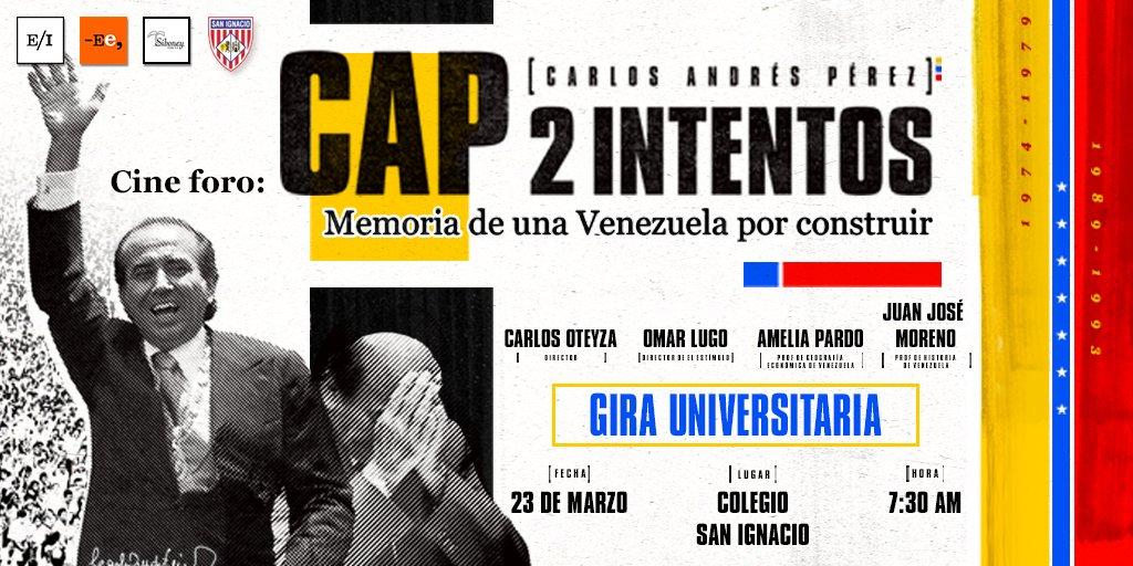 Cine foro @CAP2Intentos Memoria de una Venezuela por construir. #23Mar...