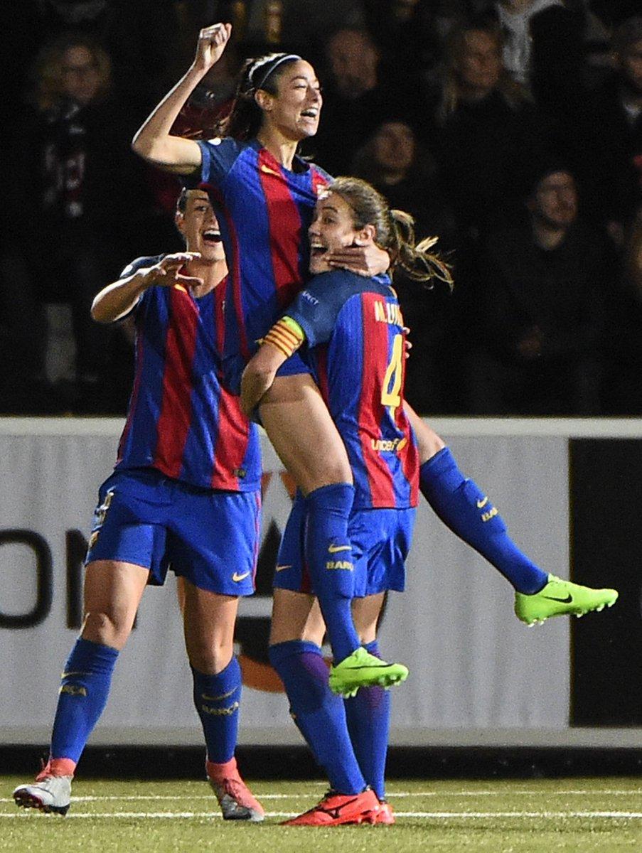 El @FCBfemeni da el primer paso hacia las semifinales en Rosengard. 👌...