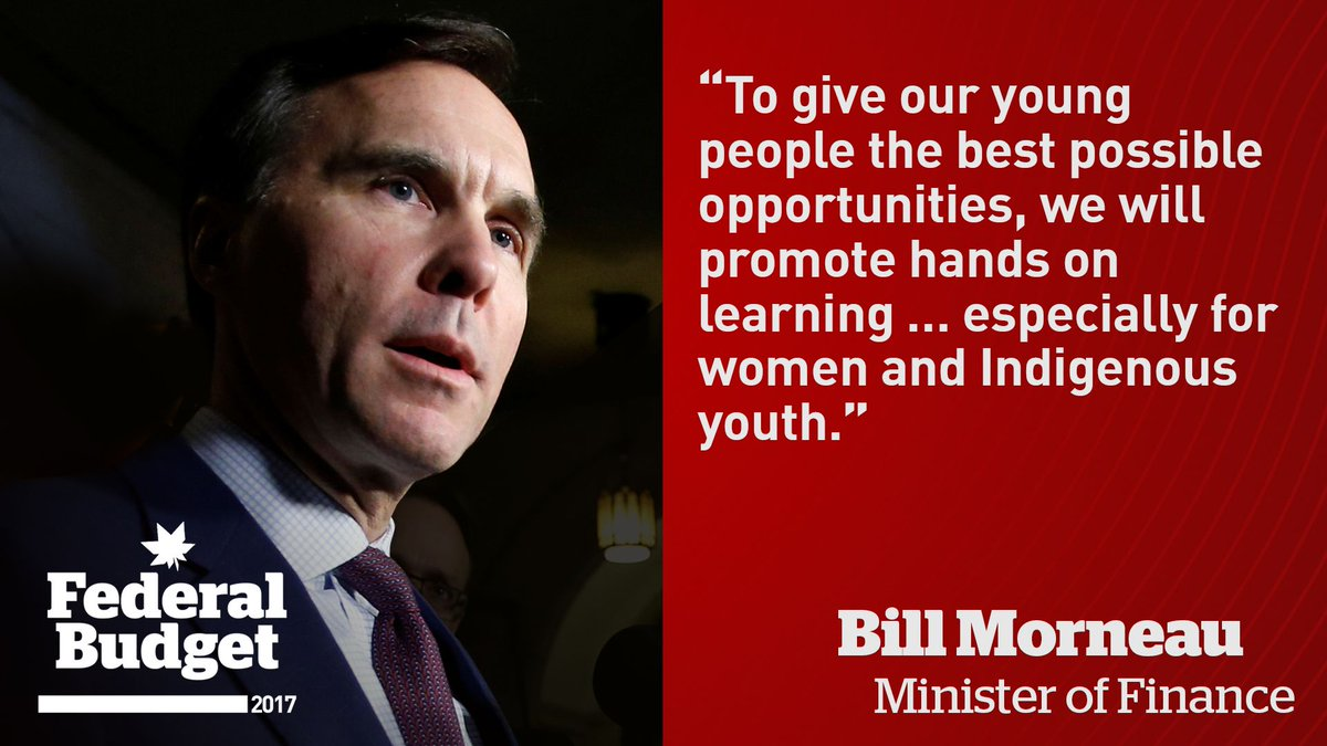 Finance Minister Bill Morneau on opportunites for youth in the 2017 bu...