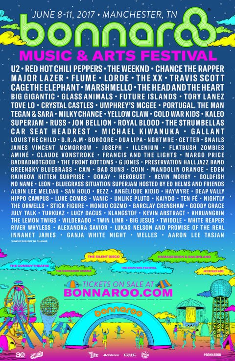 Bonnaroo Manchester, TN June 8-11 https://t.co/UuSKC2AeWg