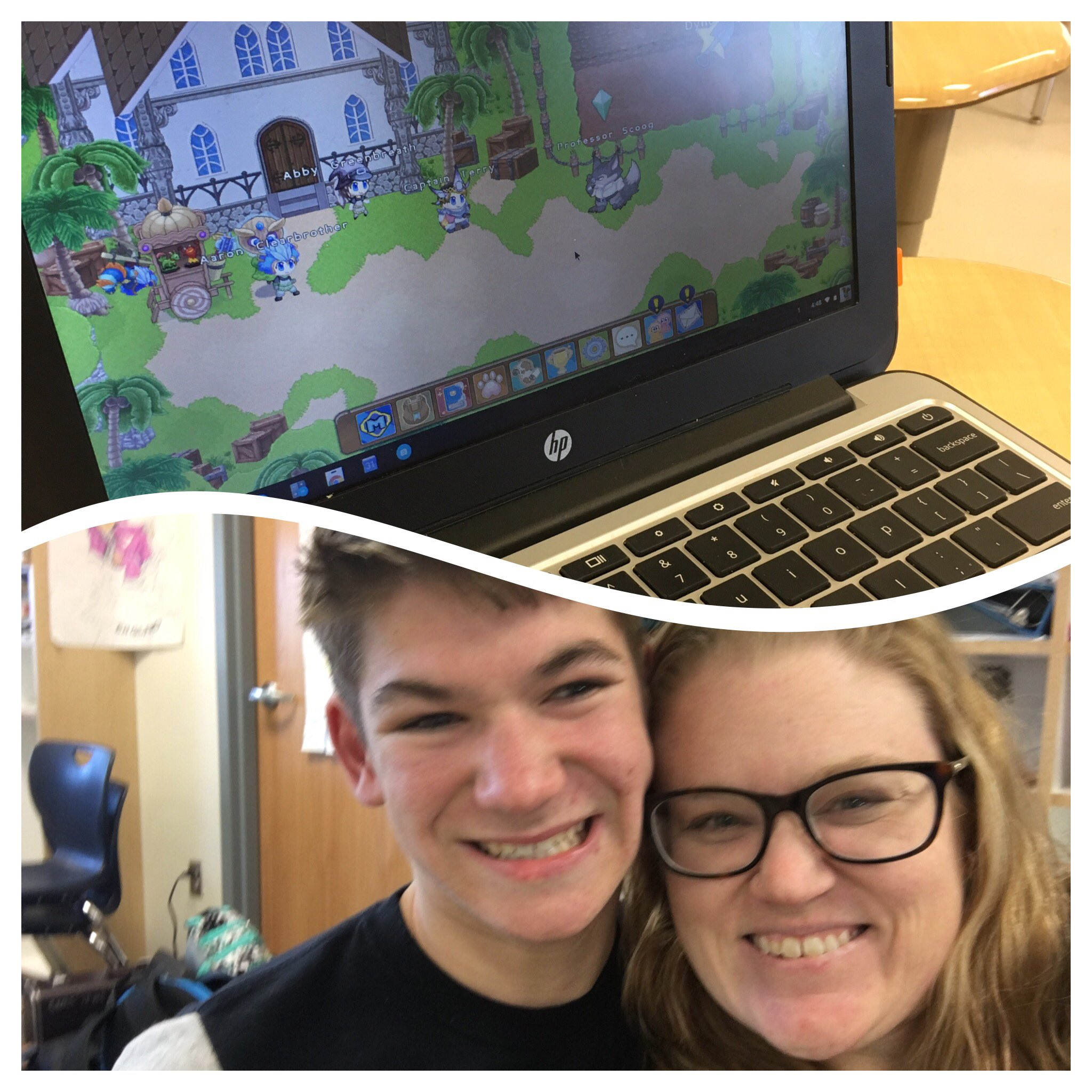 #studentsasteachers A past student teaching me how to use @ProdigyGame in my classroom w/my current students! @Clearcreeknews #scsharefair https://t.co/QJrf15tjba