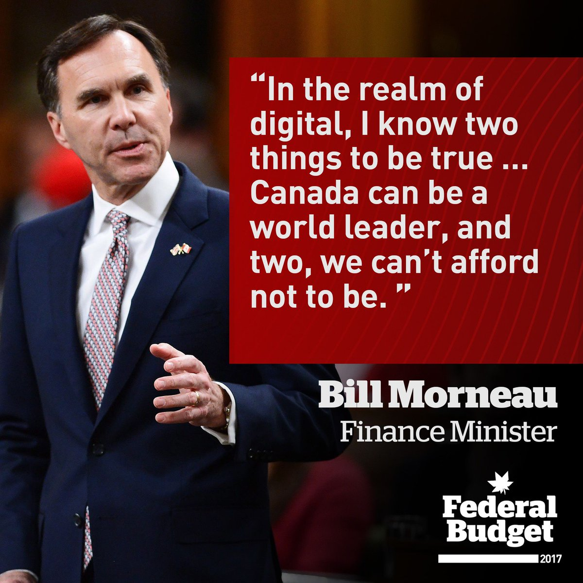Finance Minister Bill Morneau on the future of high tech industries in...