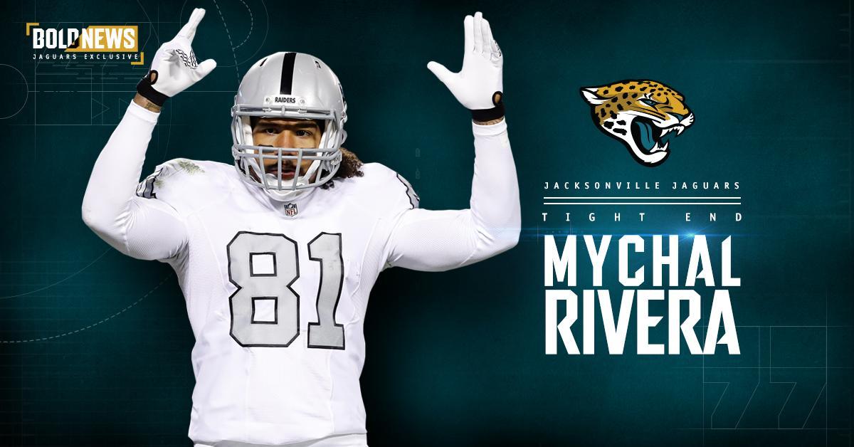 #Jaguars sign tight end @MychalRivera.    ➡️️ | https://t.co/Mkc1jjcMr...