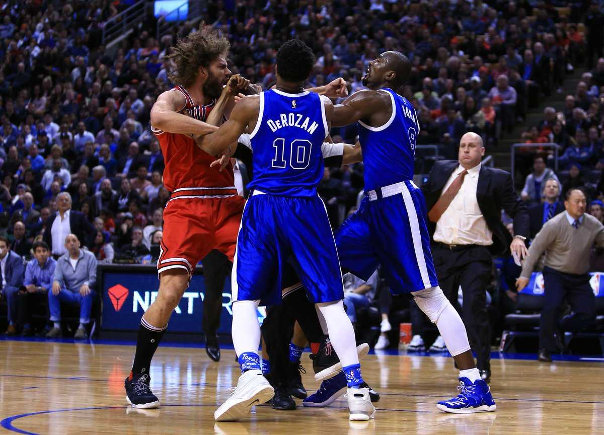 Serge Ibaka, Robin Lopez suspended one game for throwing punches last...