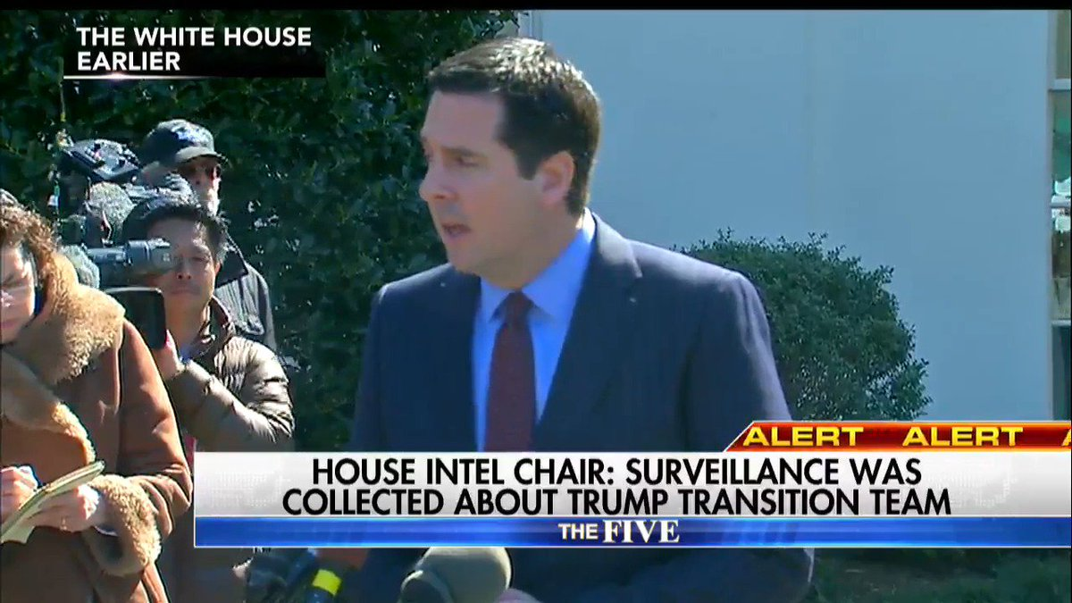 House Intel Chair: Surveillance was collected about Trump Transition team. @johnrobertsFox reports. #TheFive