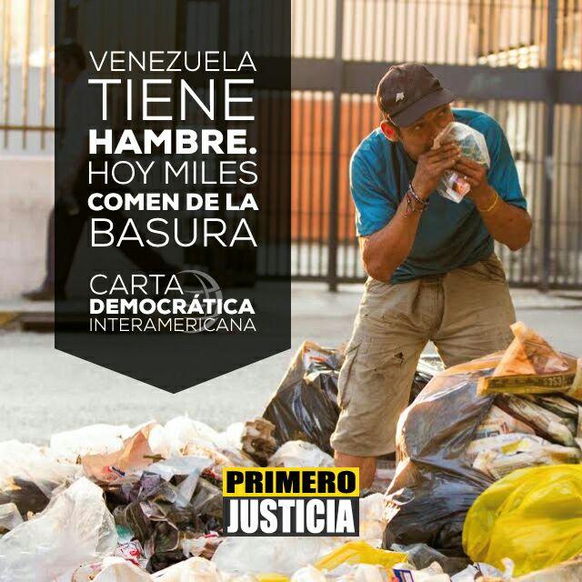 Son miles los que comen de la basura. #CartaDemocratica https://t.co/G...