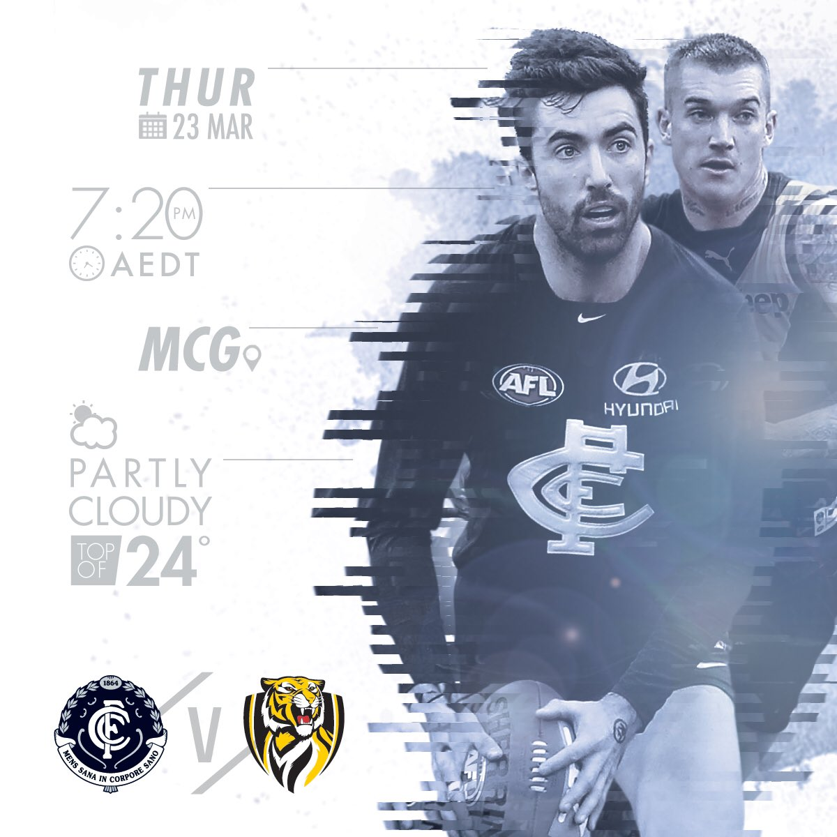 GAME DAY.   At long last, @AFL footy is back, and the stage is ours....