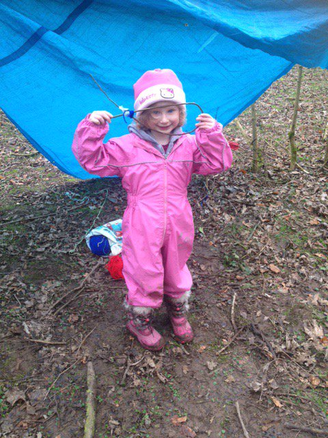 Fabulous rainbow fish being created at Forest School. #ForestSchools #LaughterAndLearning<br>http://pic.twitter.com/Dy5ftBKvmB