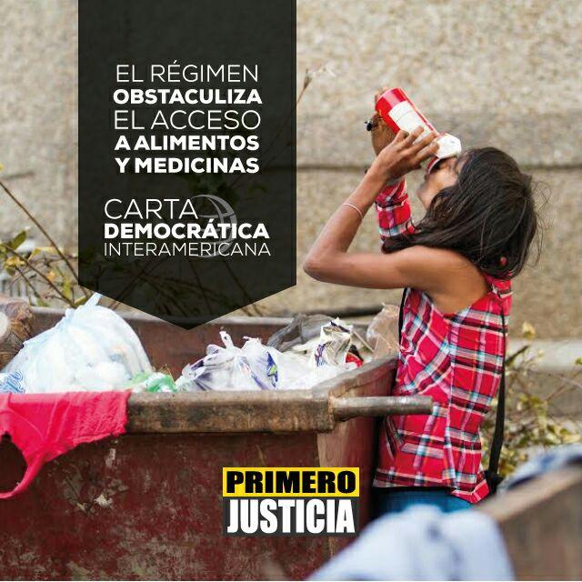 Los Venezolanos mueren por falta de medicinas #CartaDemocratica https:...