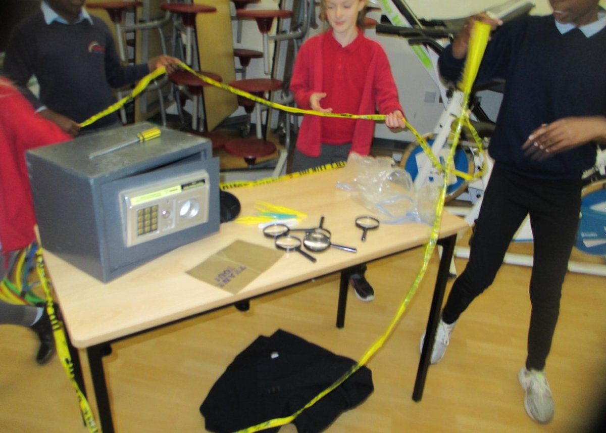 Some great science work in school this week. Forensic investigations t...