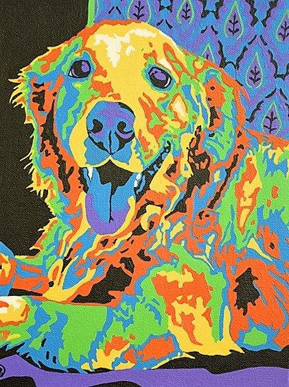 Custom pet portrait by AudreyDArt   http:// crwd.fr/2nm5lF5  &nbsp;   #modernart #trending #dogs #goldenretriever #petportraits #petart<br>http://pic.twitter.com/cpBuclrD0f