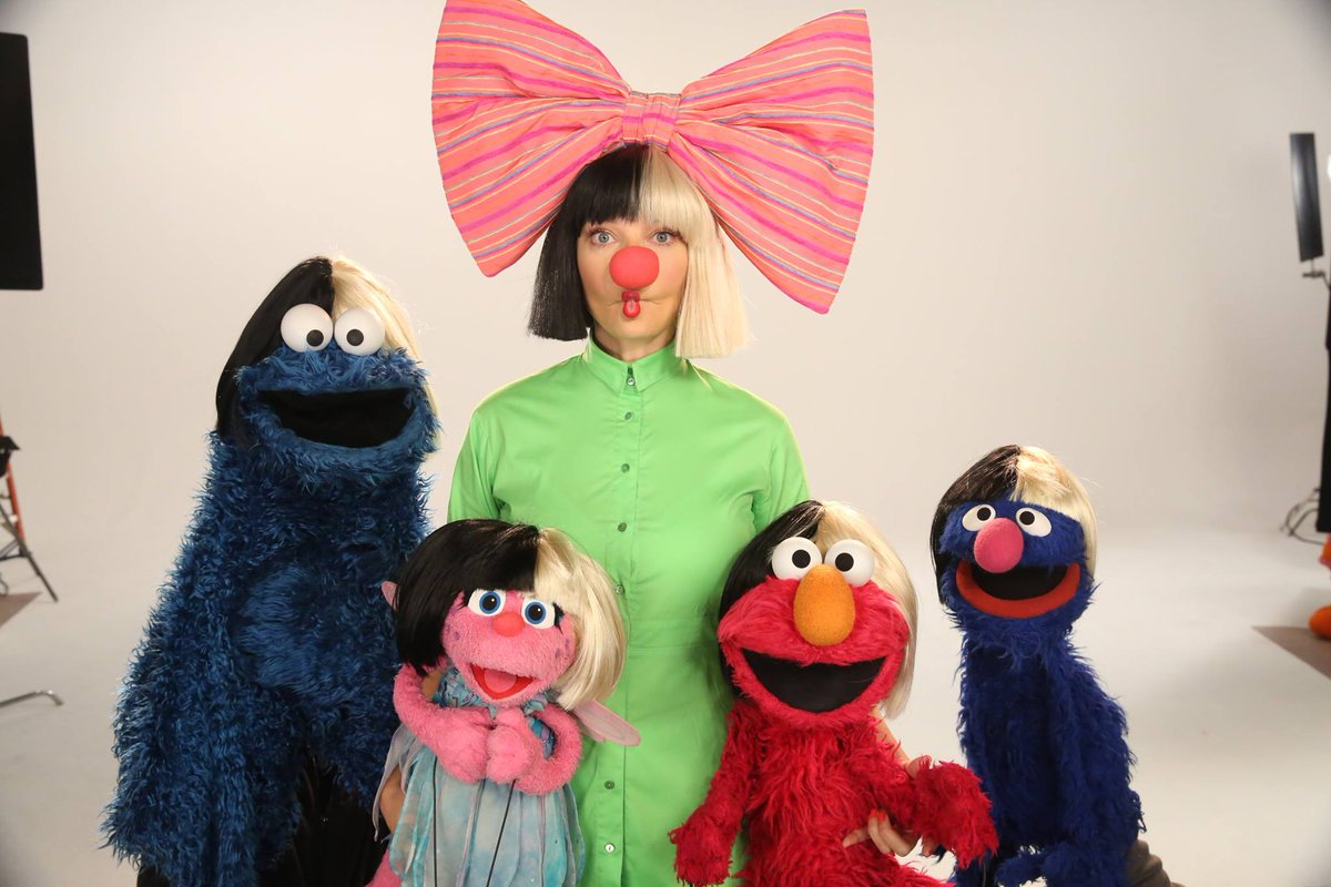 Start your Saturday bright & early with Sia and the @SesameStreet crew at 9am on @HBO 🎀 - Team Sia