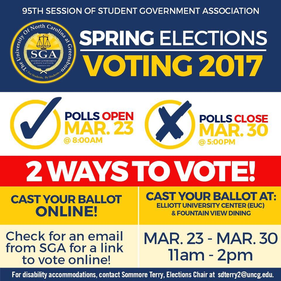 Polls open tomorrow! Make sure you come tonight at 7pm to meet the candidates 💙💛! https://t.co/u98jEDae5w