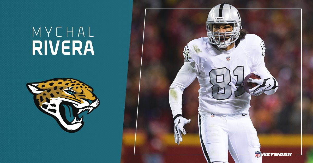 The @Jaguars sign TE Mychal Rivera to a two-year deal worth up to $6.7...
