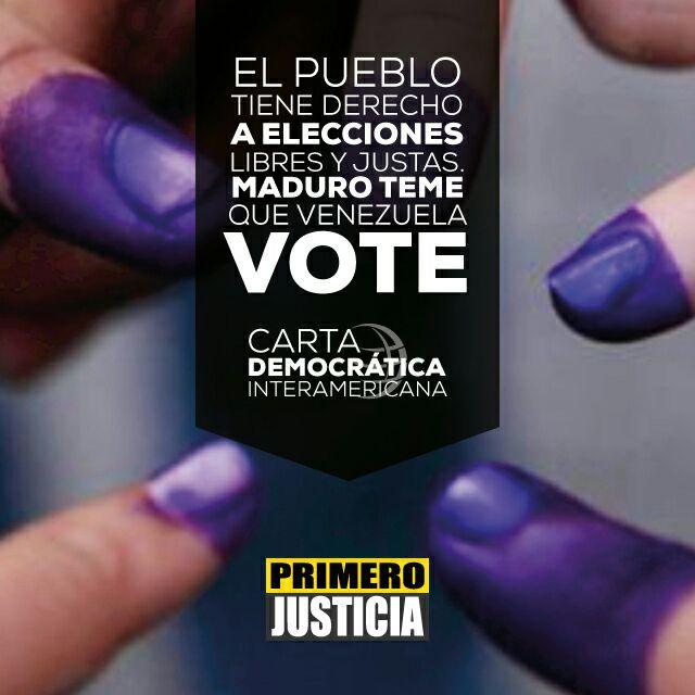 Con La #CartaDemocrática se exhorta al Gobierno a Cumplir con la const...