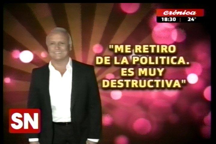 #SiempreNoticias | #QuienDijo  'Me retiro de la política. Es muy destr...
