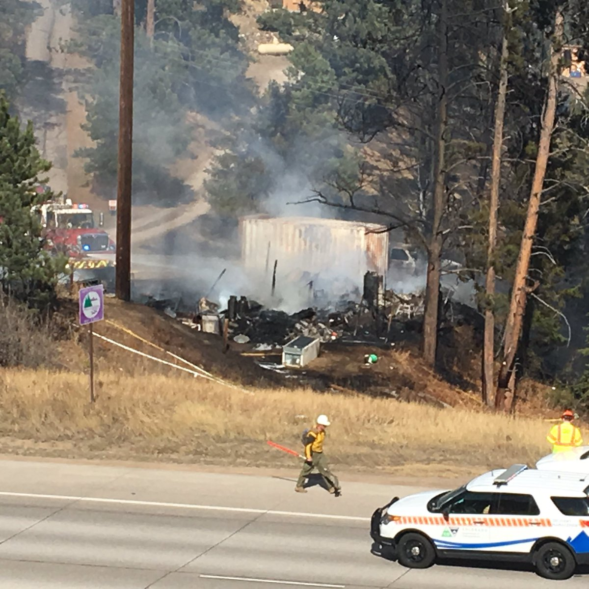 Here's a closer look at some of the damage. #NorthTurkeyCreekFire http...
