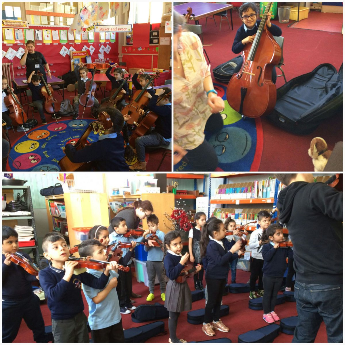 P2s get their real instruments for the first time! @GlasgowCREATE @sistemascotland #exciting #musicians <br>http://pic.twitter.com/2rIHculfJ8