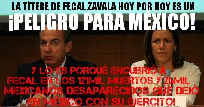 Respalda @mzavalagc al ejército(asesino)de @epn; sin duda ella si es u...