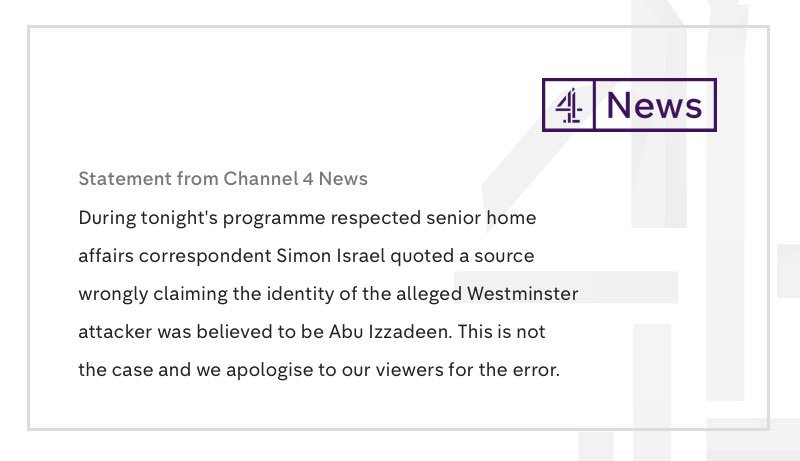 Further Channel 4 News statement https://t.co/yA3xsCQ9ZU