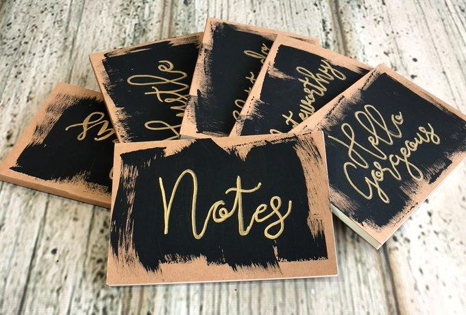 Hand Lettered Mini Notebooks