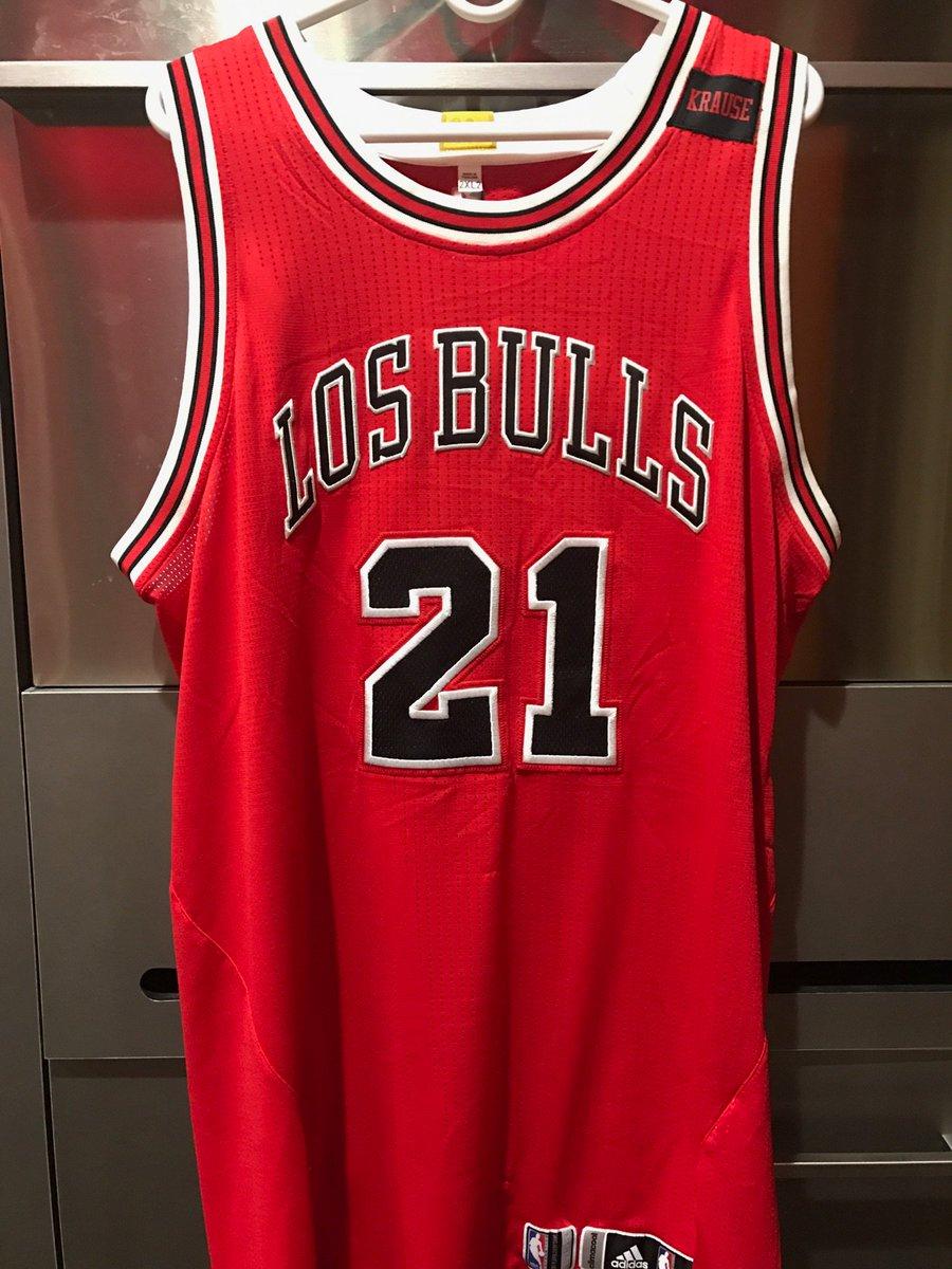"#Bulls will be wearing their ""Los Bulls"" jerseys tonight against Detro..."
