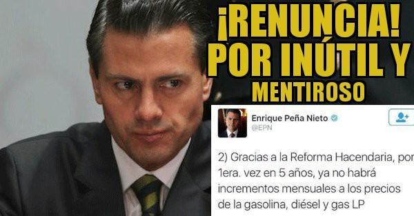 """#PromesasQueNuncaCumplo asegurar que gracias a las """"reformas' ya no ha..."""