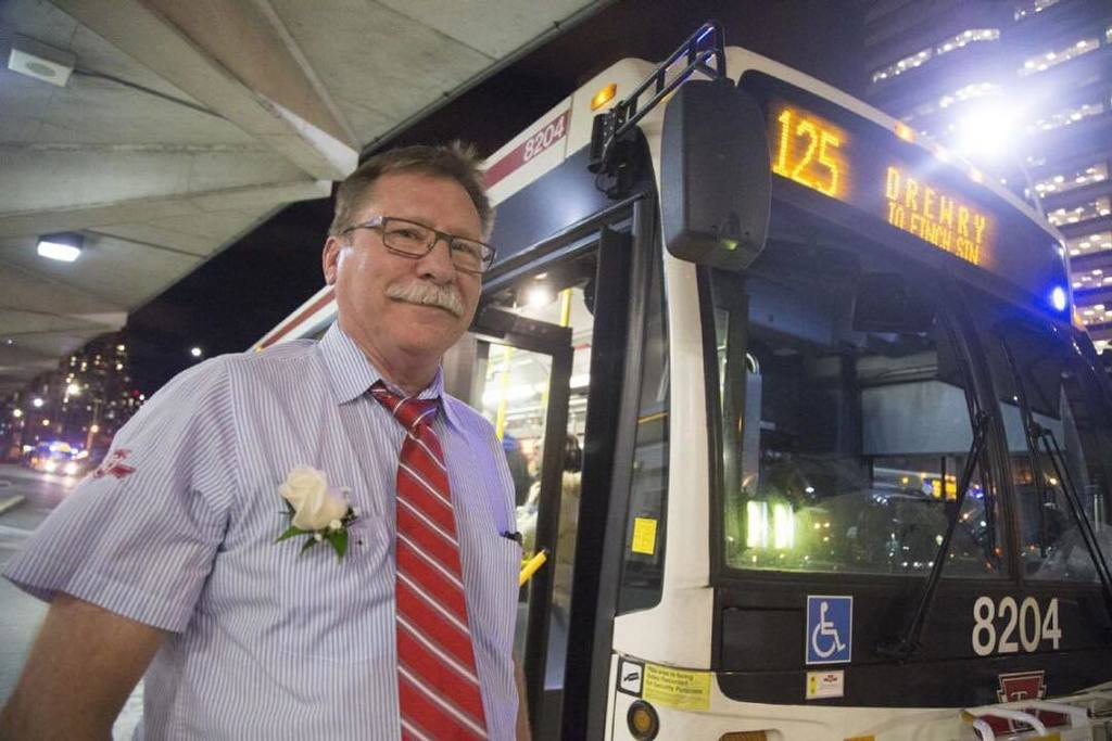 After 42 years working on the road at the wheel of a TTC bus, driver A...