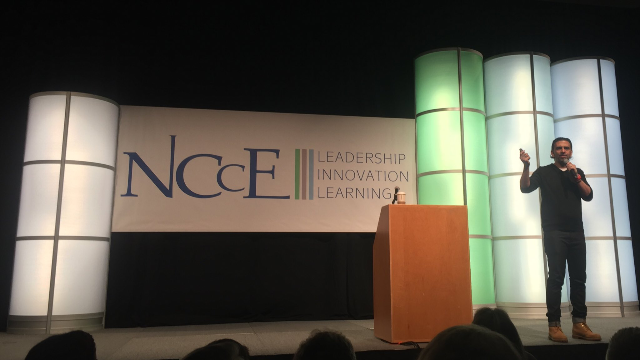 Opening keynote #NCCE17 @jcasap discussing the importance of education!!  Woot!  Woot!! 🤗. #nccechat https://t.co/Fh06kzgltE