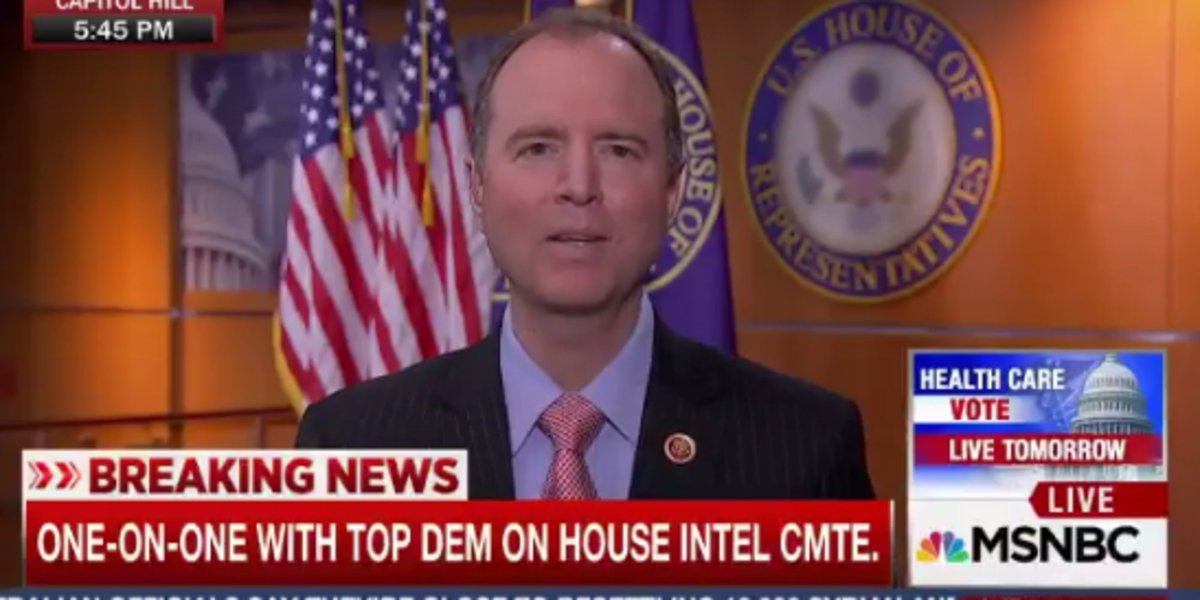 Adam Schiff: There's 'more than circumstantial evidence' of Trump ties...