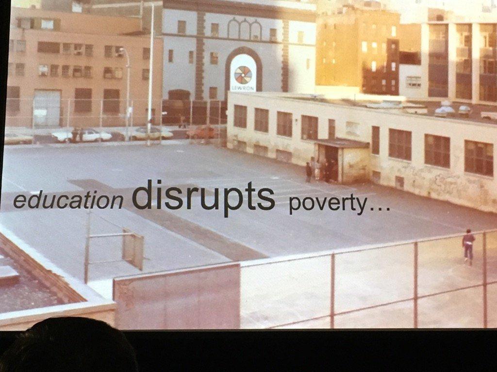 Let's be disrupters! @jcasap #MTedchat #NCCE17 https://t.co/3S6mvWwEhX