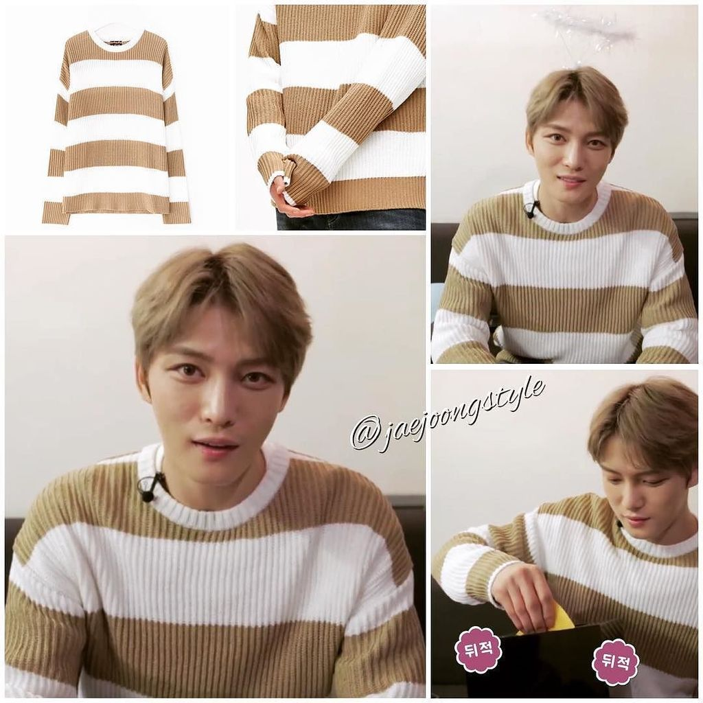 #kimjaejoong wore a 2017 SS [8 X GD&#39;s PICK] low-gauge color block #sweater in acrylic by @…  https://www. instagram.com/p/BR9XsTiBBPr/  &nbsp;  <br>http://pic.twitter.com/bAEfFCVOYV