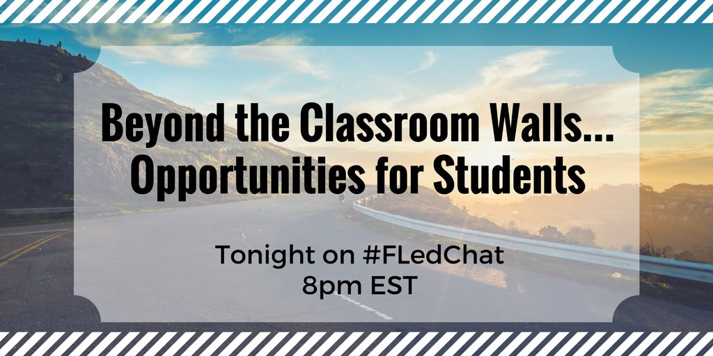 #FLedChat is coming up @8PM EST. We hope to see you there :). https://t.co/935sfLS61C