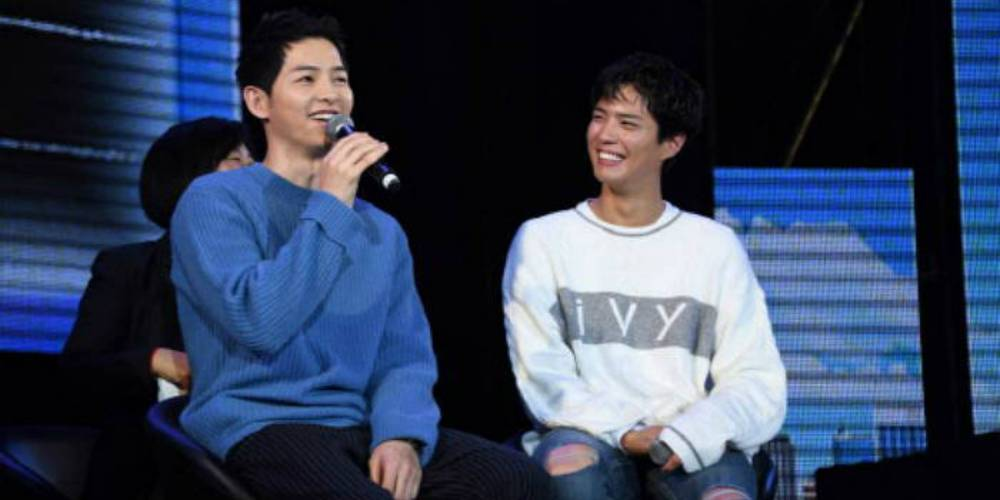 Song Joong Ki makes a surprise appearance during Park Bo Gum's interna...
