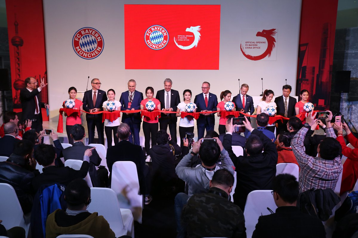 #FCBayern opens its China offices in Shanghai!   🇨🇳 https://t.co/cwLP4...