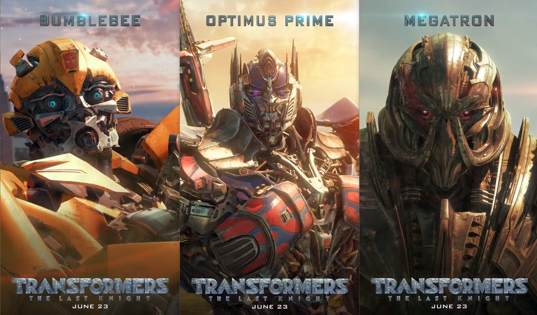 Transformers: The Last Knight Motion Posters Revealed