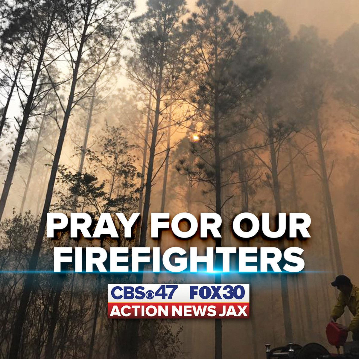 We're sending positive thoughts to the firefighters on the ground in N...