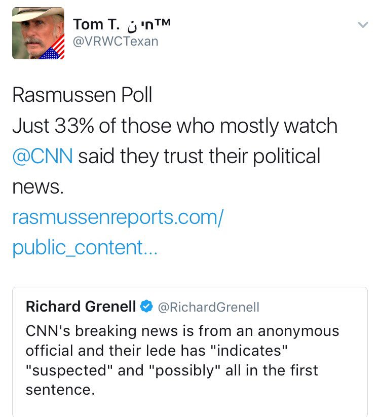 @OptimusGrine Nobody believes CNN anyway. Not even those who love it.  #CNNisFakeNews  #WokeWednesday<br>http://pic.twitter.com/bWa3gqmstl