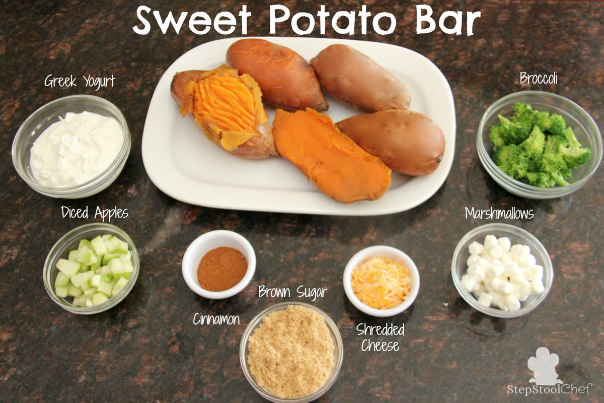 Here's a fun twist on the traditional potato bar! #healthykids #healthyrecipe #healthydinner https://t.co/FaevXd2jl2