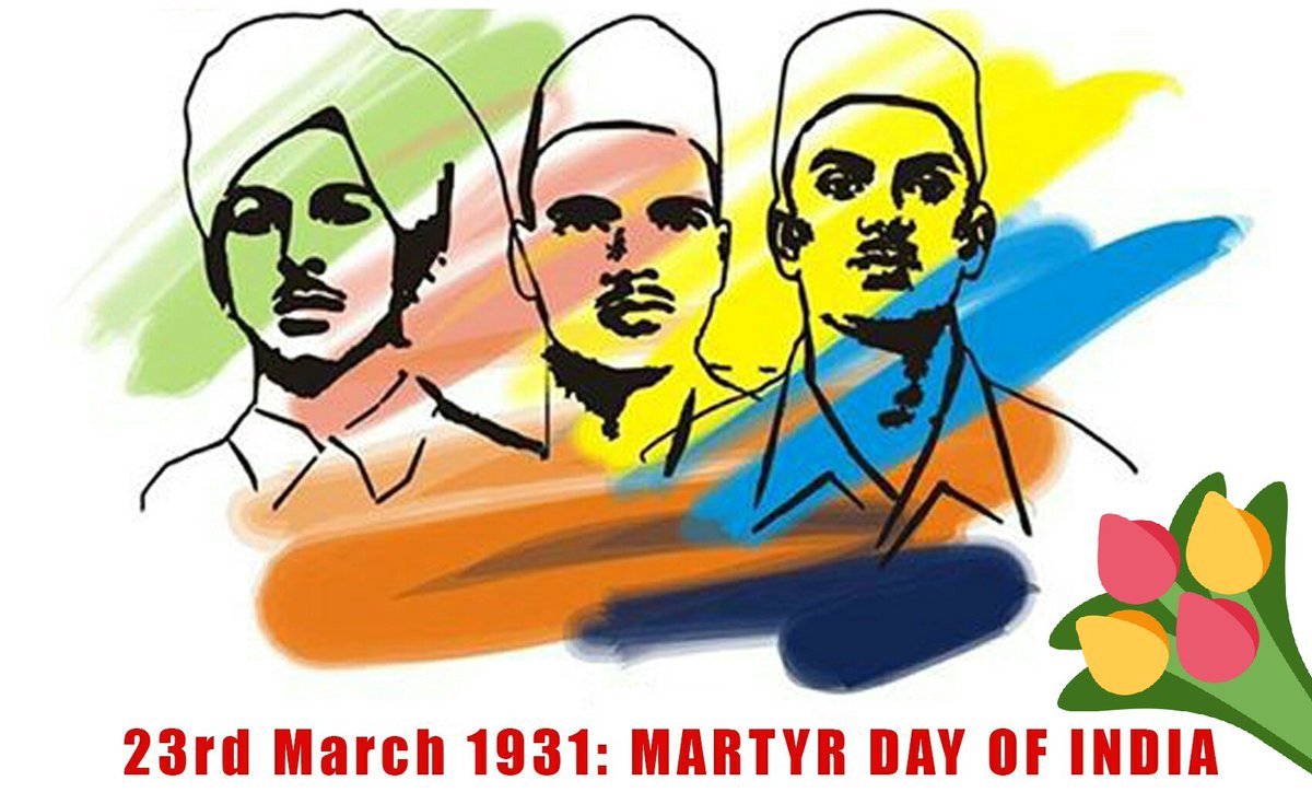 Shaheed Diwas - 23 March  IMAGES, GIF, ANIMATED GIF, WALLPAPER, STICKER FOR WHATSAPP & FACEBOOK