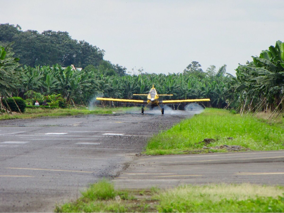 An #AirTractor #AT500 landing in a banana  plantation near #Guayaquil. #AvGeek <br>http://pic.twitter.com/9gAYyuJVzc