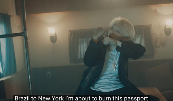 AGUST D can predict the future because they literally went from Brazil to New York.