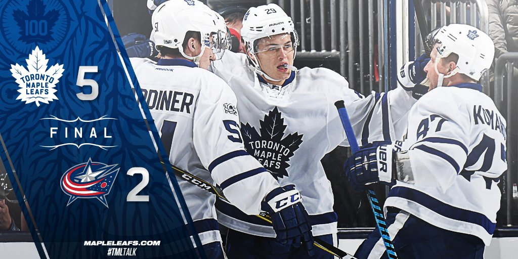 FINAL: The Leafs show heart and hustle for the win in Columbus. #TMLta...
