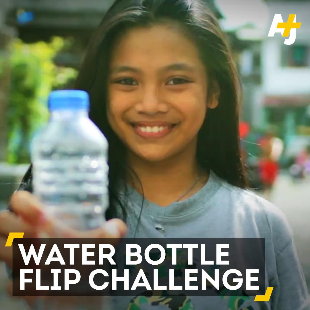 Kids are sharing videos of themselves flipping water bottles for World...