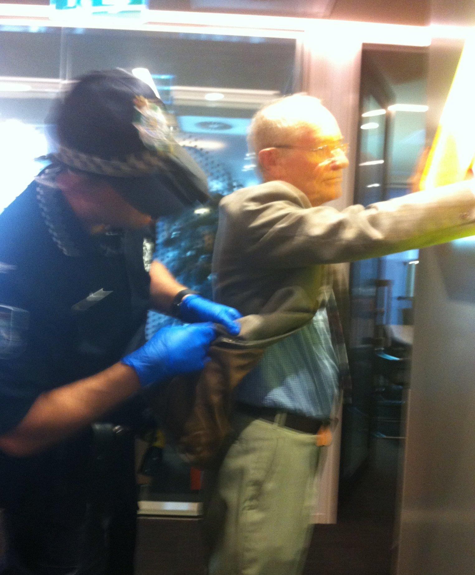 Grandparent John Sheridan arrested for occupying Aurizon HQ, demanding they withdraw $1bn+ NAIF loan application #stopadani #qldpol #auspol https://t.co/fqqslDJg5X