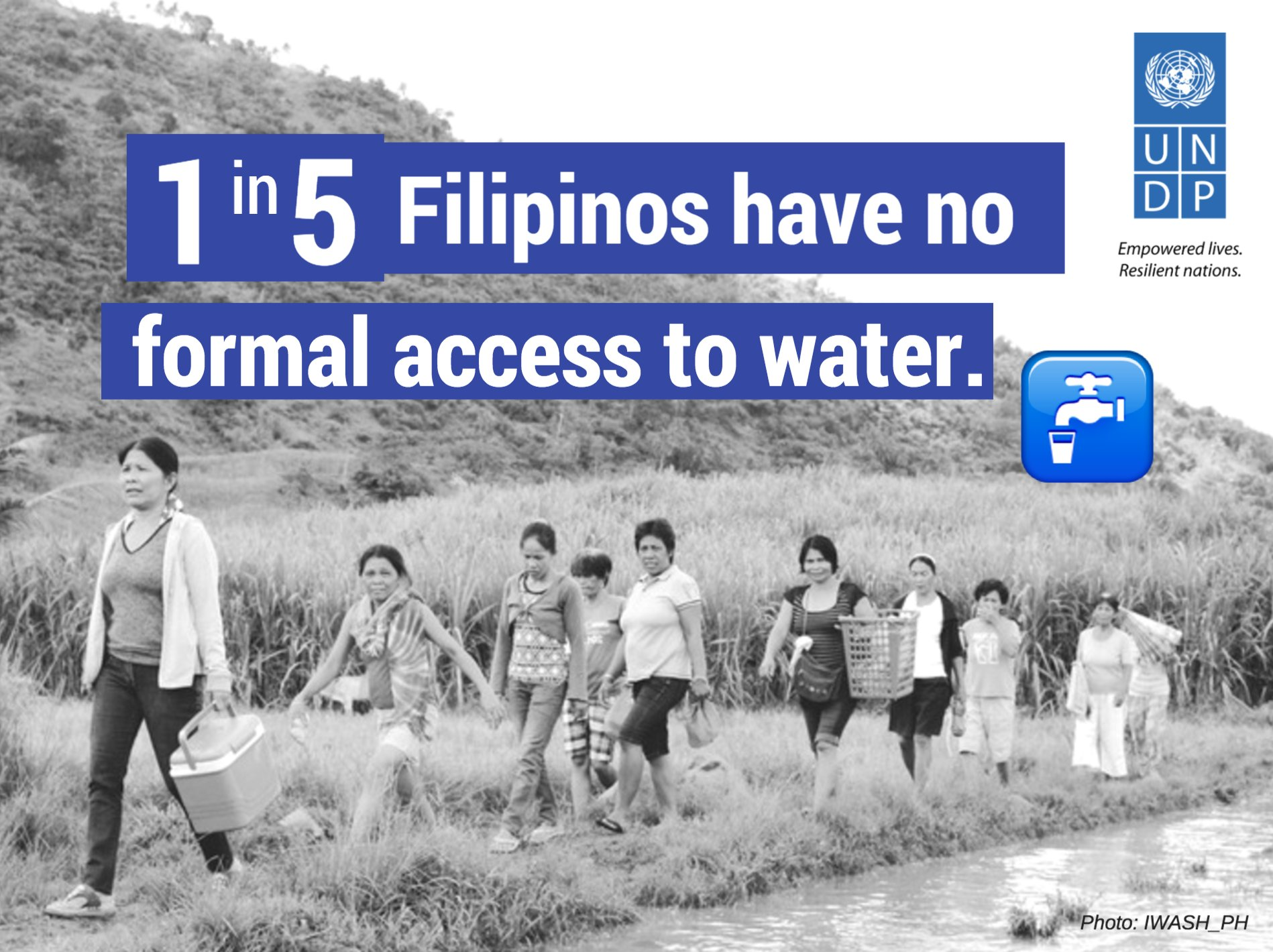 1 in 5 Filipinos do not have formal access to water. 🚱🏚️ Water is a precious resource we should not waste. #WorldWaterDay https://t.co/Z1DlSHv4QJ