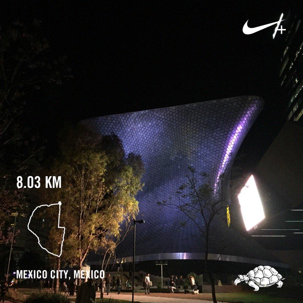 Ran 8.03 kilometers with Nike+ Run Club #runhappy #RunOscarRun #8km @elmuseosoumaya #instaCDMX @brooksrunning<br>http://pic.twitter.com/BzKS6BZwMm