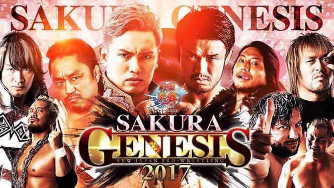 NJPW: Card para o Sakura Genesis 2017